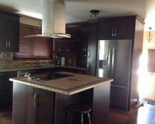 Oak Mostly Custom Cabinet - Custom Kitchen Cabinets