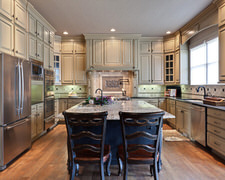 Aa Cabinets & Countertops Inc An Indian - Custom Kitchen Cabinets